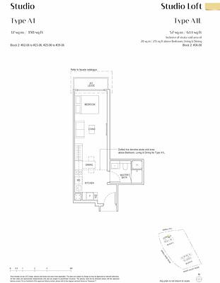 Irwell Hill Residences Floor Plan Studio