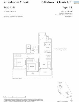 Irwell Hill Residences Floor Plan  2 bedroom Classic