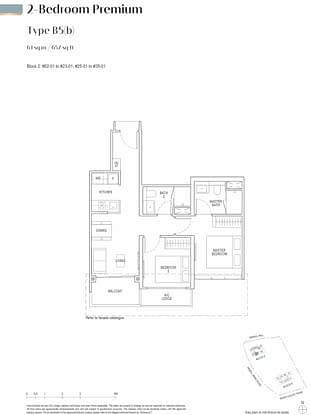 Irwell Hill Residences Floor Plan 2 Bedroom Premium