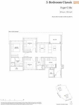 Irwell Hill Residences Floor Plan 3 Bedroom Classic
